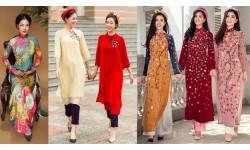 Ý nghĩa mỗi loài hoa trên tà áo dài Tết của phụ nữ Việt