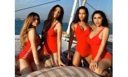 Dàn mỹ nhân Hoa hậu Chuyển giới diện bikini đỏ rực: Hoài Sa đọ dáng cùng đại diện Úc - Philippines