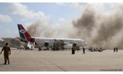 Nổ lớn tại sân bay quốc tế ở Yemen
