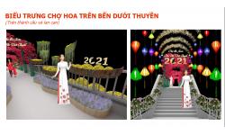 """Chợ Hoa Xuân """"Trên bến dưới thuyền"""" nét văn hóa truyền thống Nam Bộ tiếp tục diễn ra thu hút công chúng."""