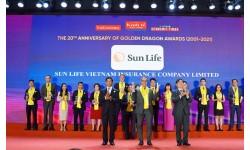 """Sun Life Việt Nam vinh dự nhận """"Giải Thưởng Rồng Vàng"""" năm 2021"""